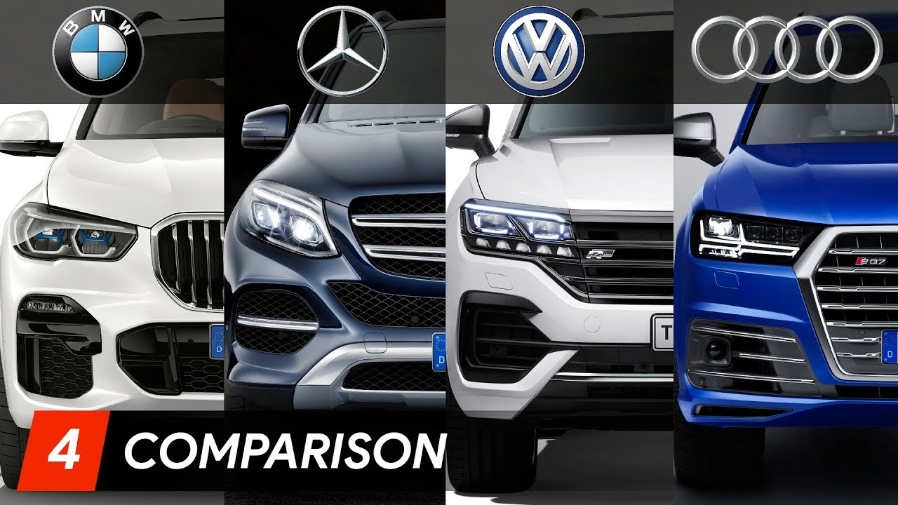 2019 BMW X5 Vs Mercedes GLE Vs Audi Q7 Vs Volkswagen Touareg - YouTube