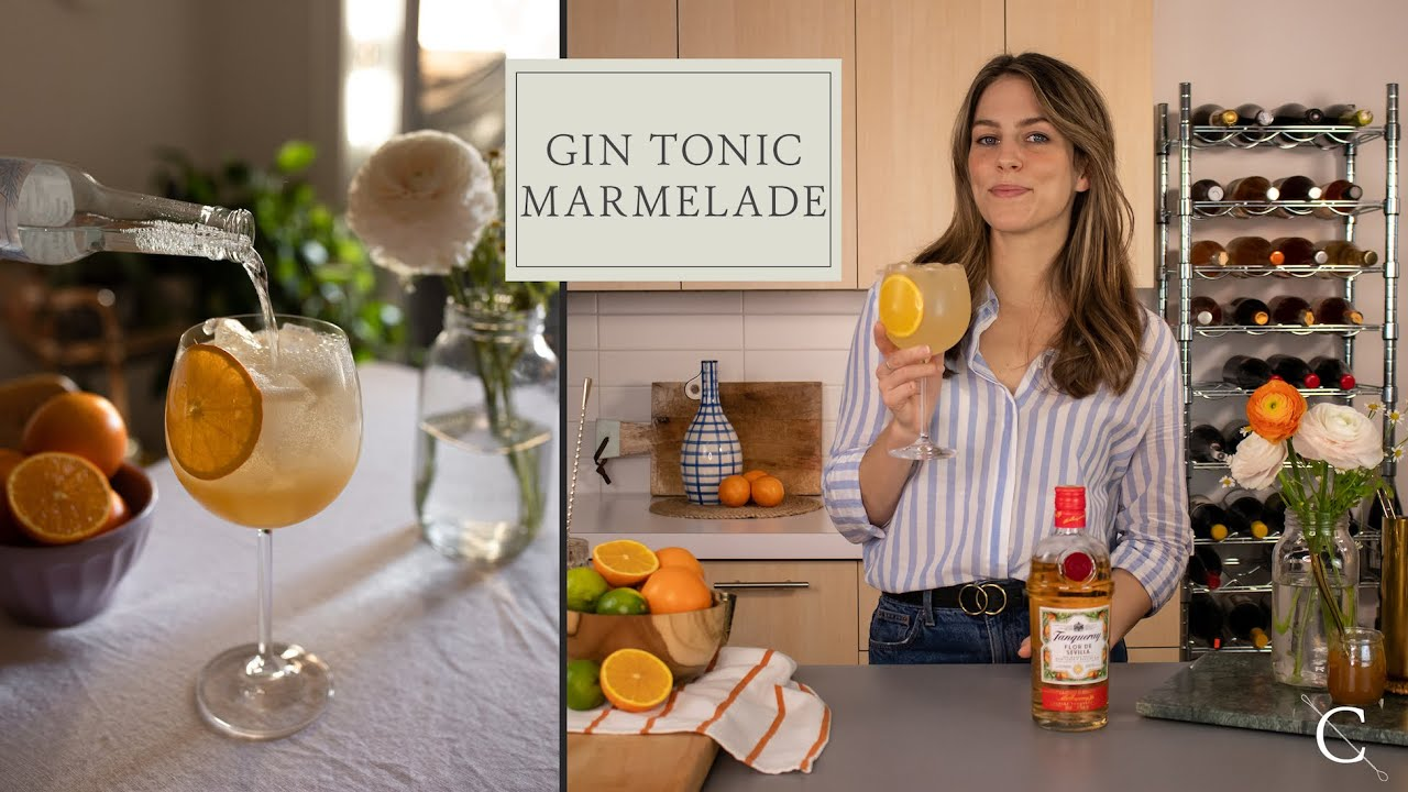 Download RECETTE DE GIN TONIC MARMELADE AVEC LE GIN TANQUERAY FLOR DE SEVILLA | Cocktail à base de gin
