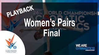 FIG World Championship Replay: 2018 Acrobatic Gymnastics Women's pair Final