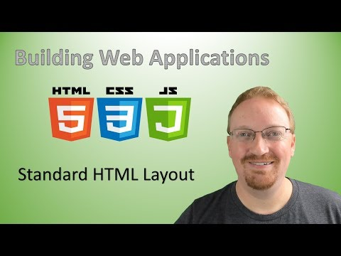 3. Building Web Applications: Standard HTML Layout | HTML For Beginners 🌐