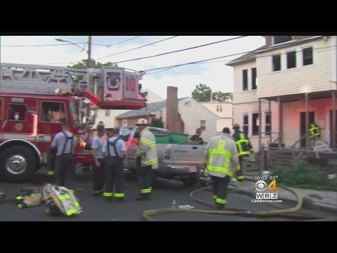 Firefighter Hurt Battling Mattapan House Fire
