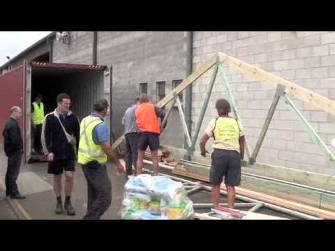 DENTON HOMES PROJECT VANUATU 2010 Loading Shipping Container