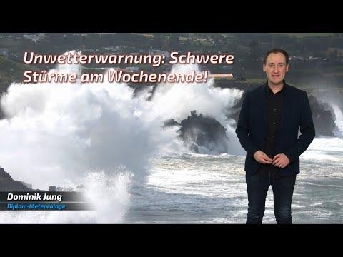 Unwetter am Wochenende: Schwere Stürme ziehen über Deutschland hinweg! (Mod.: Dominik Jung)
