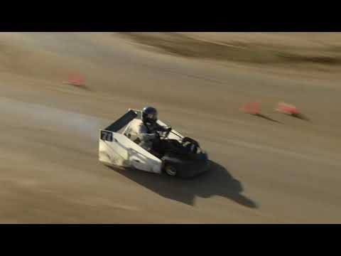 Open Karts on a Dirt Road Course at Perris Auto Speedway