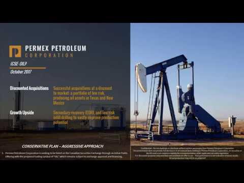Permex Petroleum Corporation Investor Presentation