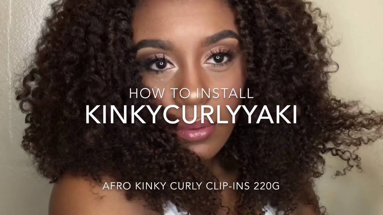 How To Install Kinkycurlyyaki Clip In Afro Kinky Curly Texture