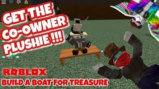 TUTORIAL - THE CO-OWNER PLUSHIE - Roblox - Build a Boat for Treasure