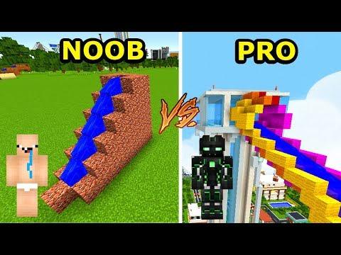 Minecraft NOOB vs PRO: WODNA ZJEŻDŻALNIA W MINECRAFT!