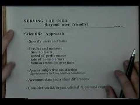 Serving the User (1993 University of Maryland UIS Broadcast)