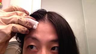 07 白髪用 利尻カラーシャンプー口コミの本当のところ 14日目 ここでちょっと利尻ヘアカラートリートメントの効果を検証するために頭半分の髪だけを染めてみました ヽ ノ