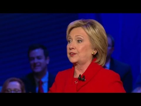 Clinton asked why young people think she's 'dis...