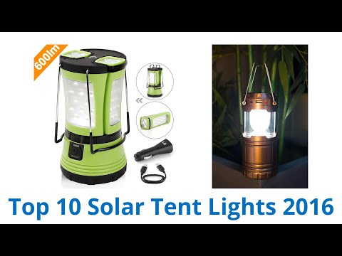 10 Best Solar Tent Lights 2016