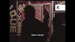 1960s Reeperbahn at Night, Seedy Hamburg Sex Shops, 35mm