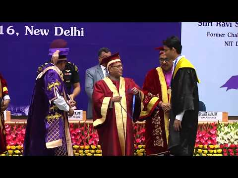 NIT Delhi First Convocation || President of India - Pranab Mukherjee || Ajay K. Sharma