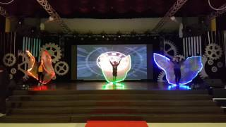 Alab poi dancer led wings rehersal