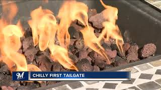 Fans battle cold weather for Opening Day tailgate at Miller Park