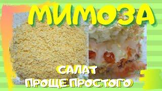 Салат Мимоза Простой и недорогой рецепт