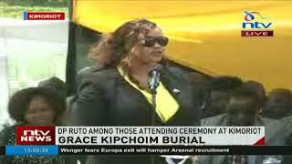 DP Ruto among those attending Grace Kipchoim's burial ceremony