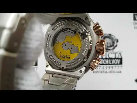 Invicta 21356 MM Reserve THUNDERBOLT BLACK MOP Dial Rose Gold Bezel Watch