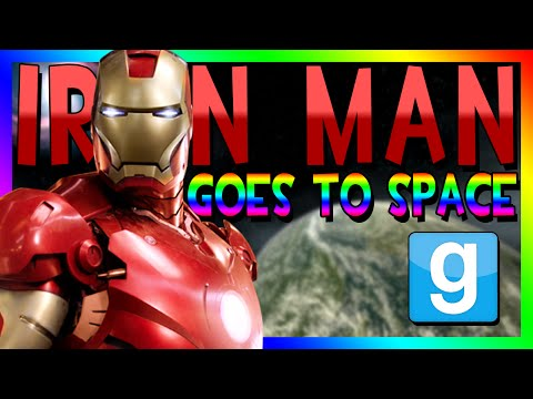 IRON MAN GOES TO SPACE | Gmod Space Race (Iron Man Player Model)