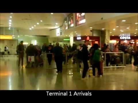 London Heathrow Terminal 1 & 3 Walk To Bus, Train Stations