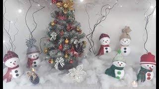 Como Fazer Enfeites – Boneco de Neve de Natal