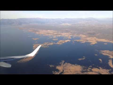 Belgrade to Podgorica flight - takeoff, approach and landing