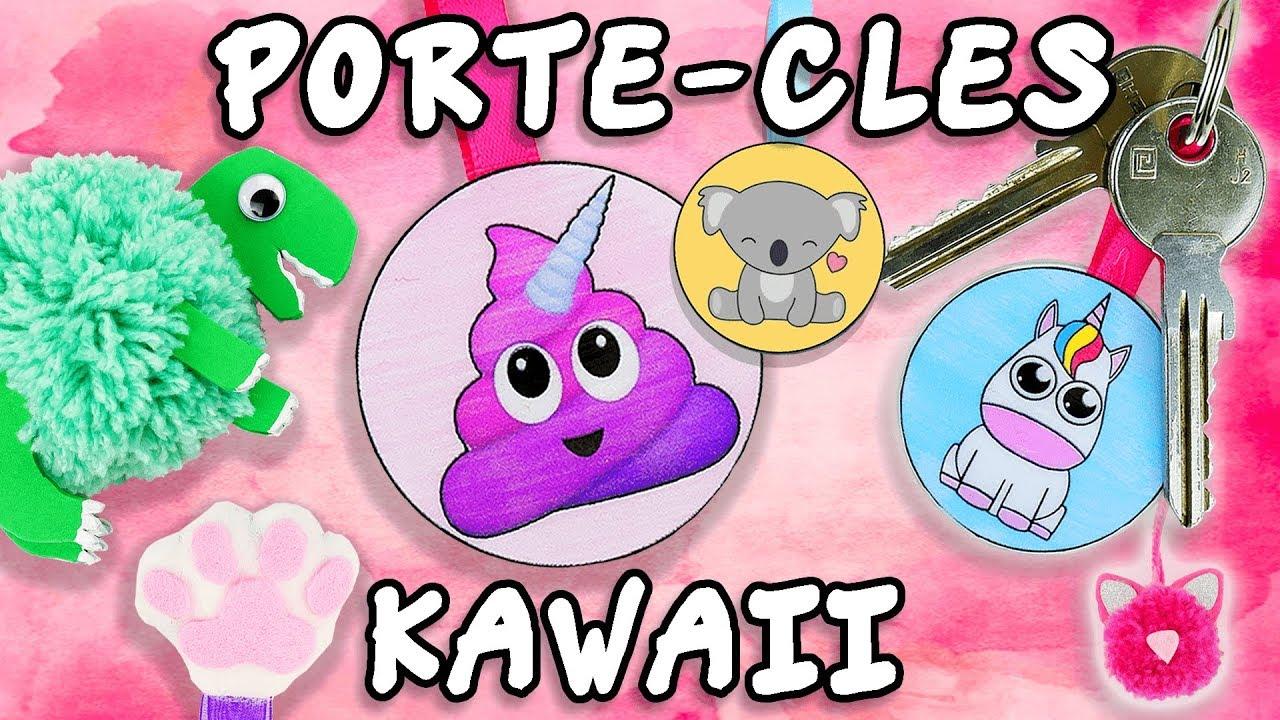 Porte cle kawaii animaux diy facile youtube - Porte cle diy ...
