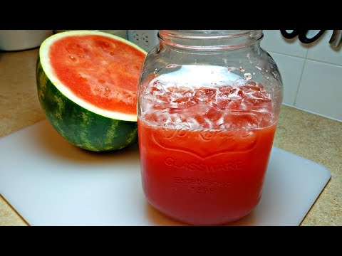 Steps to make watermelon juice recipe