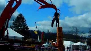 Logging Equipment Log Stacking Competition !