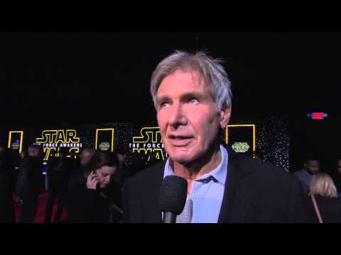 Star Wars The Force Awakens World Premiere Interview - Harrison Ford