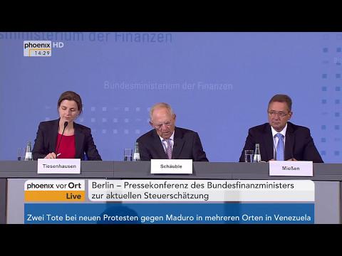 Steuerschätzung: Pressekonferenz von Wolfgang Schäuble am 11.05.17