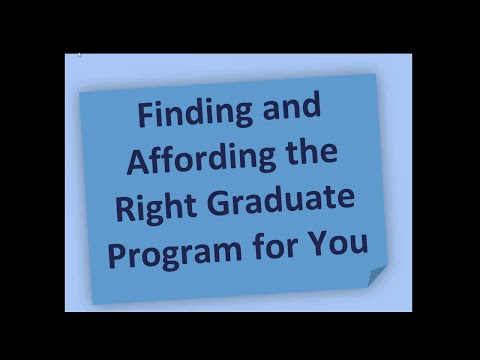 Finding and affording the right psychology graduate program