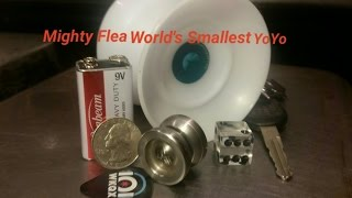 Yoyofactory Mighty Flea yoyo review.  Worlds smallest yo-yo.