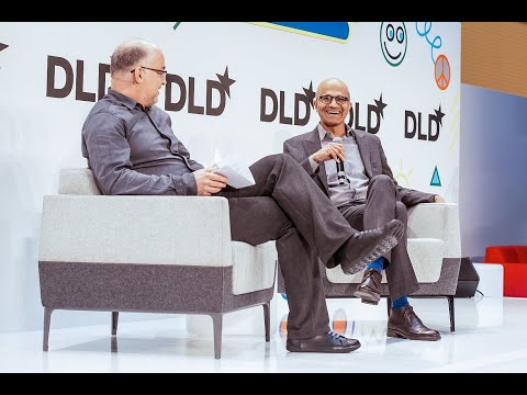 Microsoft's Nadella talks about how artificial intelligence can be used for good