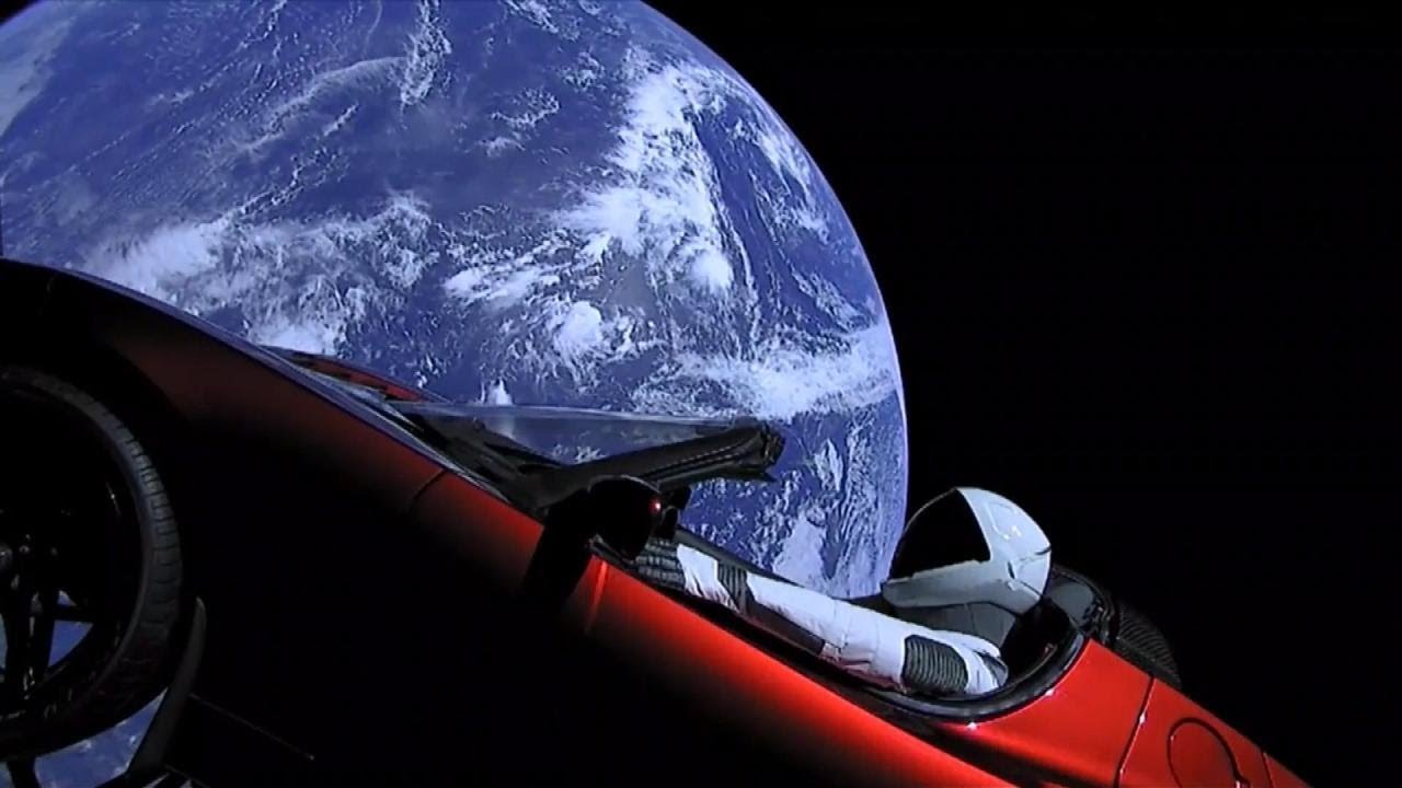 Sports Car 4k Wallpaper Tesla Sports Car Orbits Earth With Spaceman At The Wheel