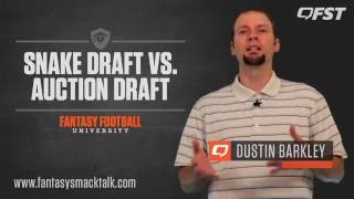 Snake vs. Auction Draft Pros and Cons - Fantasy Football