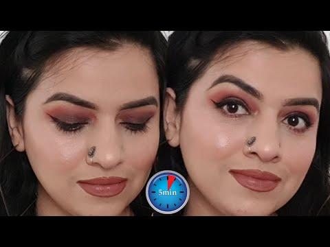 5 MINUTES Brown Smokey Eyes Tutorial II Makeup Shakeup By Nitika Sawhney