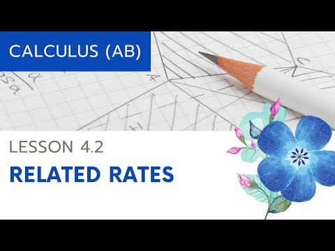 Calculus AB Lesson 4.2: Related Rates