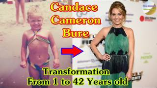 Candace Cameron Bure transformation from 1 to 42 years old