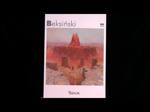 Plakat Z 1999 R Przedstawiający Reprodukcję Obrazu Zdzisława Beksińskiego Z Autografem Autora