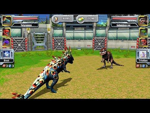 Indominus Rex VS Yutyrannus - Jurassic Park Builder JURASSIC Tournament Android Gameplay