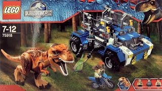 Lego Jurassic World Tyrannosaurus Rex Dinosaur 75918 - Lego construction Tracker Vehicle