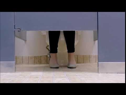 Woman has diarrhea in public restroom