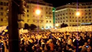 Iraklis fans 2011-Demonstration  against the unfair relegation