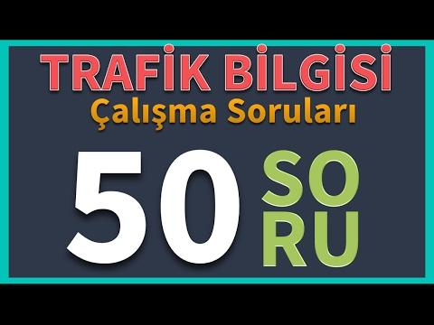 Trafik Bilgisi Çalışma Soruları (50 soru)