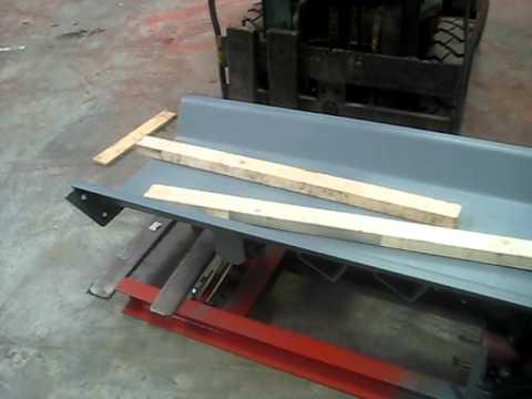 Testing of vibrating conveyor