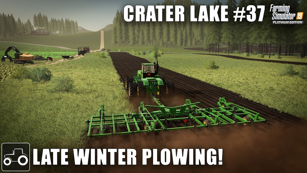 Clearing Trees To Create A New Field, Crater Lake #37 Farming Simulator 19 Timelapse