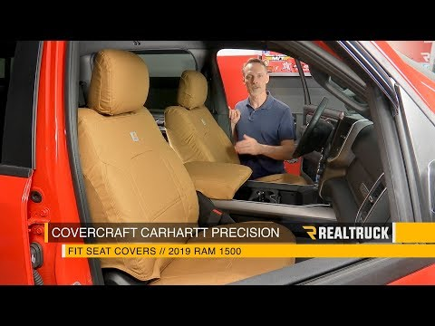 How To Install Covercraft Carhartt Precision Fit Seat Covers On A 2019 Ram 1500