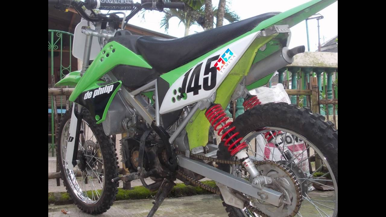 Video Modifikasi Motor Trail dari Yamaha F1ZR Gastrack Rasa klX  YouTube